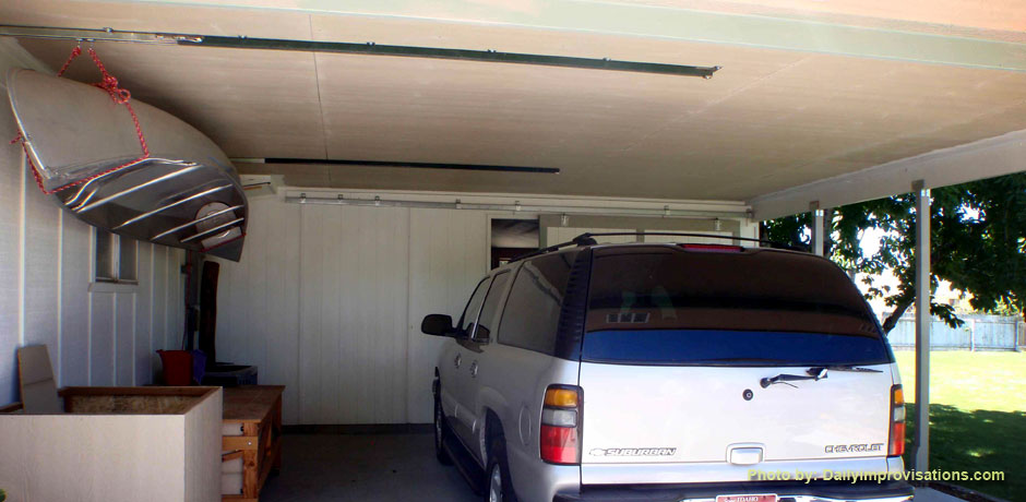 Fun Simple Pulley System Increases Garage Storage Space