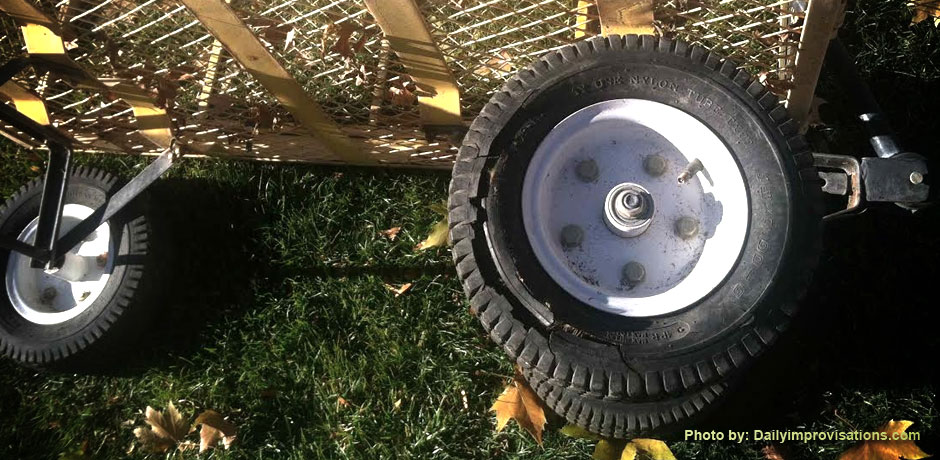 New Tires for the Garden Cart DB Supply Blogs