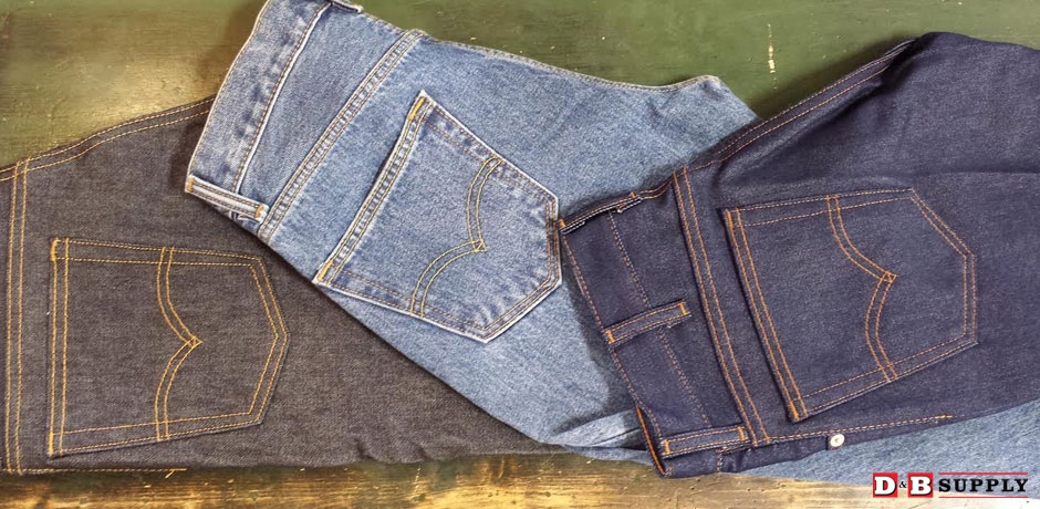 Perfect pockets on denim jeans
