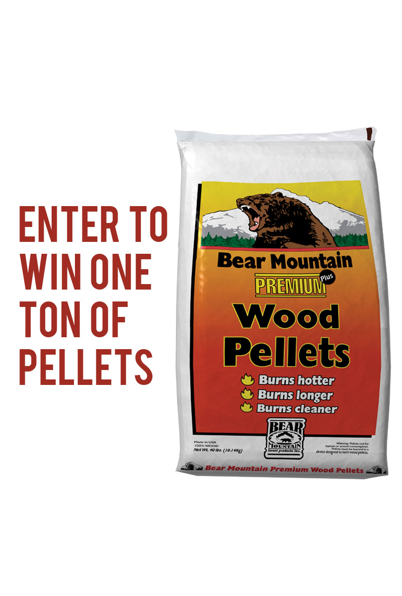 Win one ton of bear mountain wood pellets d b supply s