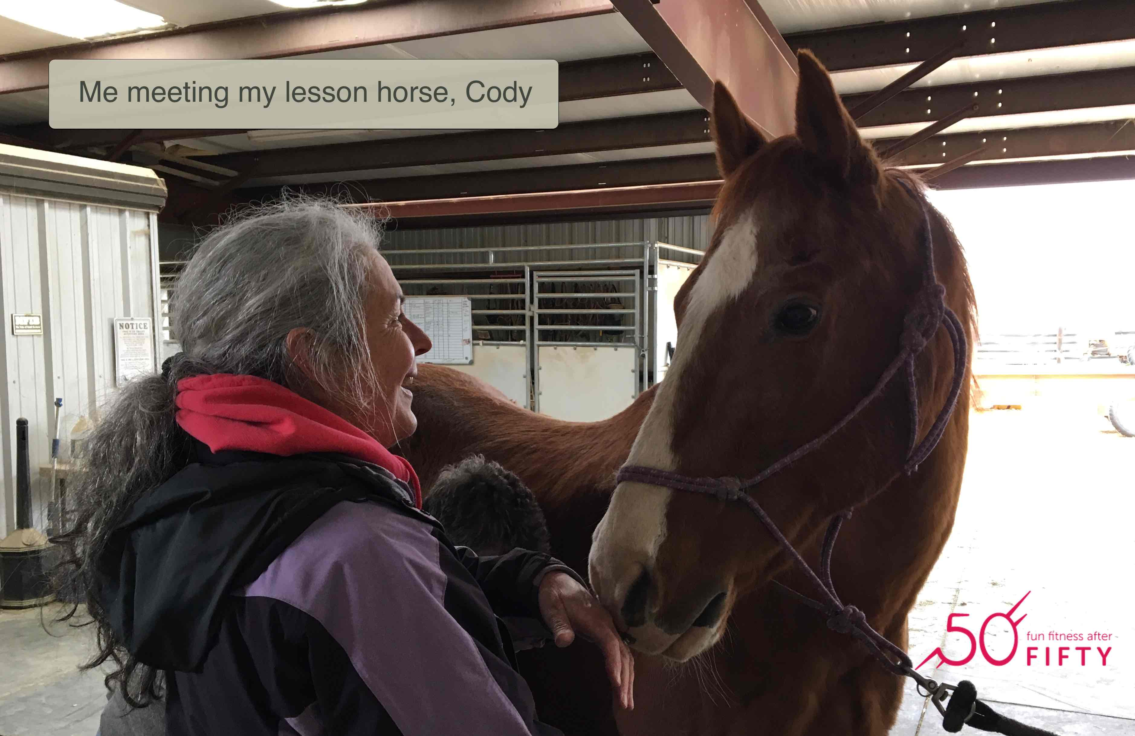 11302018 Laura Blodget Blog Not too old to ride - meeting Cody